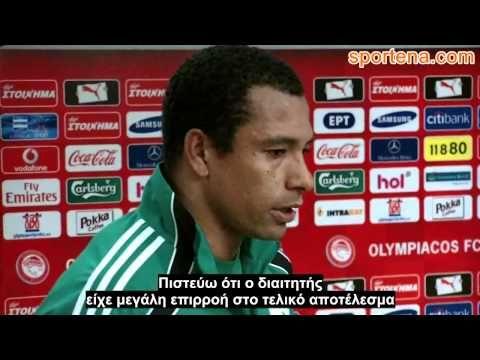 """Olympiakos - PAO 2-1: Gilberto Silva """"Megali ntropi gia to elliniko podo..."""