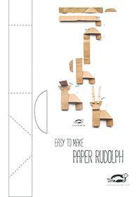 PAPER RUDOLPH – EASY TO MAKE | krokotak