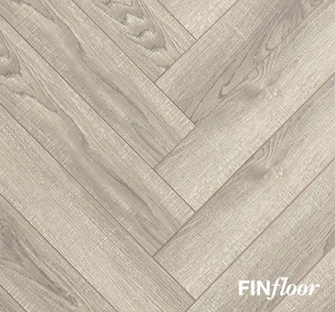 Finfloor Herringbone Laminate Flooring   Colour Grey Wash