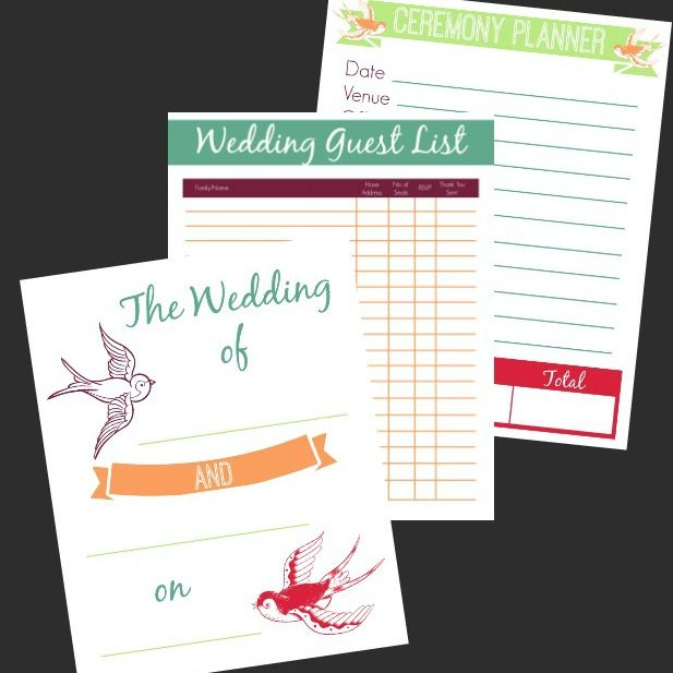 177 best wedding printables images on Pinterest Boxes, Cards and - free printable guest list