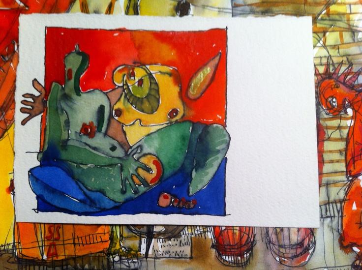 Here #illustration #sketch #drawing #art