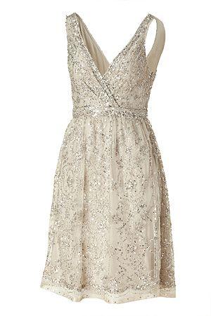 Antique silver sequin dress