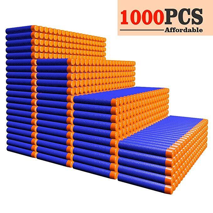 AMOSTING Refill Darts 1000PCS Ammo Bulk Bullets Pack for