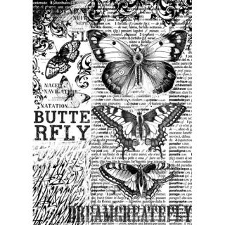 Now live! Decoupage Rice Paper DFSA4168 Butterflies with black and white backgrounds, Vintage