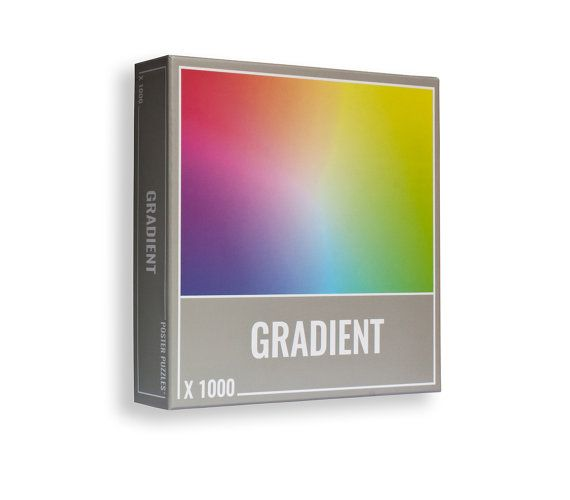 Gradient Puzzle 1000 Pieces: Cool, Premium Jigsaw Puzzles for Grown Ups and Adults! Cool Jigsaw Puzzle