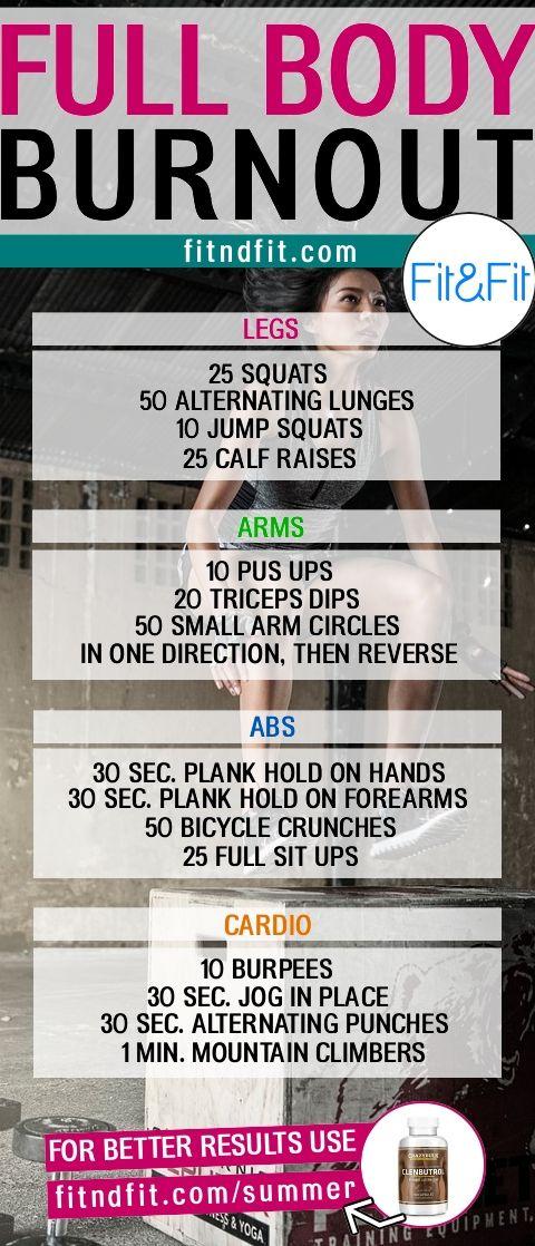 The Absolute Full-Body Burnout Workout! #fitness #bodybuilding #workout #gym #weightloss #fatloss #loseweightfast #love #new #pinterest #london #newyork #uk #newyork #losangeles