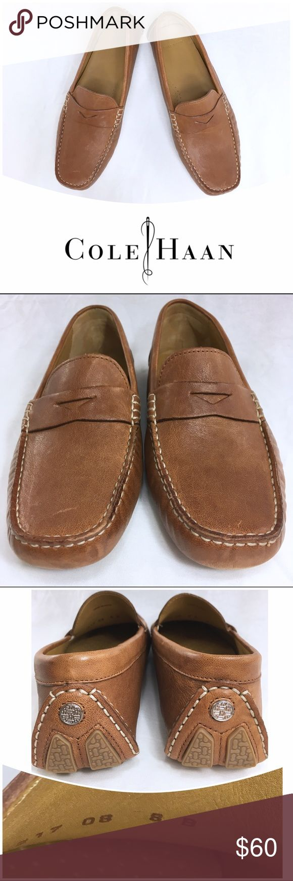 COLE HAAN TAN LEATHER DRIVING LOAFERS - Size 8 These leather loafers are in great condition. They have been gently pre-loved. They are size 8B. Cole Haan Shoes Flats & Loafers