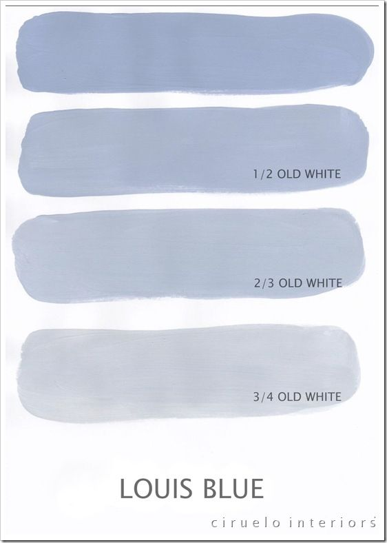 """Louis Blue Excellent info from Ciruelo Interiors Blog; """"Annie Sloan Chalk Paint lovers: Here is my extended colours range"""" show how the colors can be mixed to achieve huge color range~"""