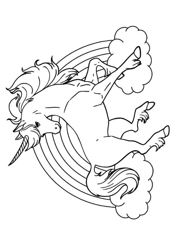 print coloring image Unicorns