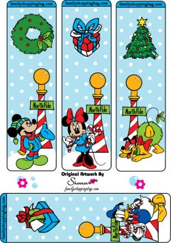 Mickey Christmas printable Bookmarks