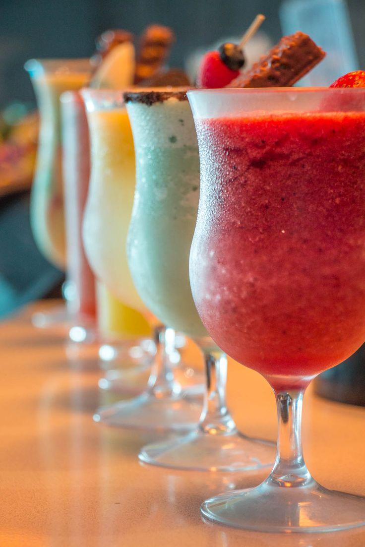 Different colorful drinks at Teens Club of #GrandVelas #RivieraNayarit