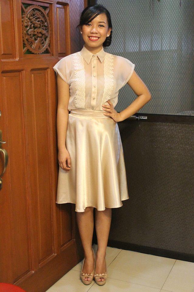 7 best filipiniana dresses images on pinterest grad for Barong tagalog wedding dress