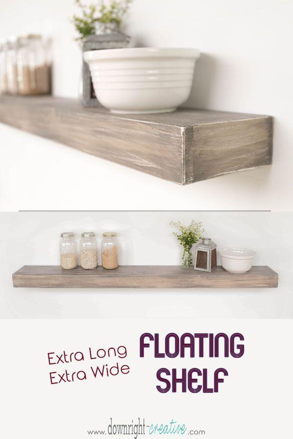 extra long extra wide floatingshelves add a ton usable shelving rh pinterest com extra wide floating shelf