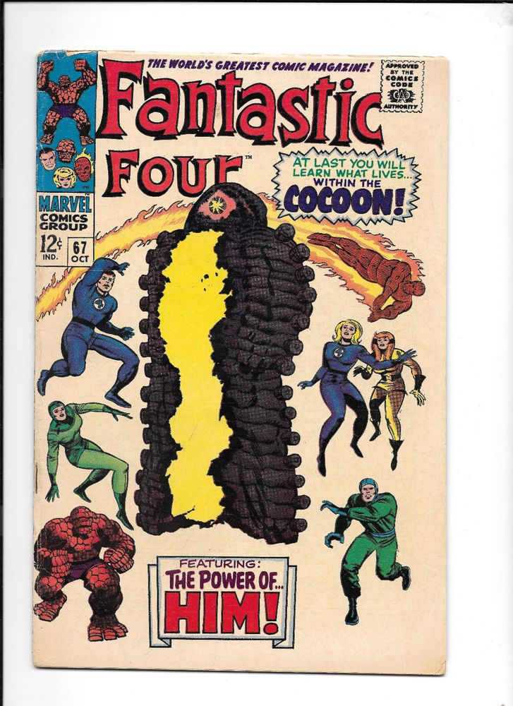 Fantastic Four #67 (Oct 1967, Marvel) First Him (Adam Warlock)