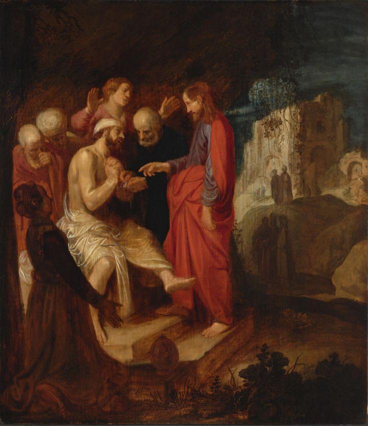 The Raising of Lazarus / La Resurrección de Lázaro // c. 1620 // Jan Symonsz. Pynas // Philadelphia Museum of Art // #Jesus #Christ #Cristo