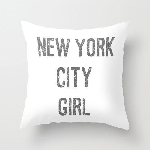 Velveteen Pillow  New York City Girl Pillow  by BellaBellaShoppe, $40.00
