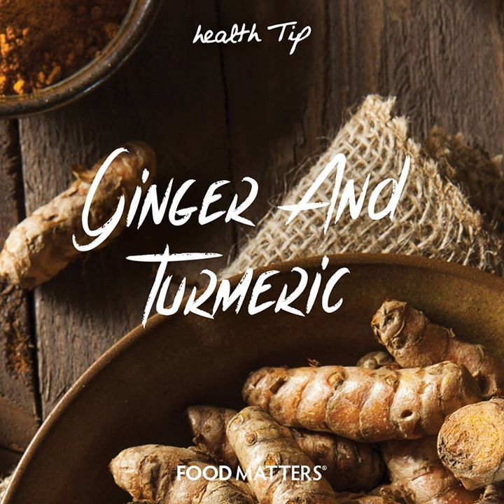 Ginger And Turmeric - These two spices are time tested, digestion-friendly and anti-inflammatory spices, in addition to their numerous health benefits! Long used in Ayurvedic medicine to help heal and prevent dry skin, slow aging, diminish wrinkles & improve the skins elasticity. Try grating some fresh ginger and turmeric into a small saucepan with 1 cup of almond milk or coconut milk and gently simmer until warm to create a soothing tea.  www.hungryforchange.tv