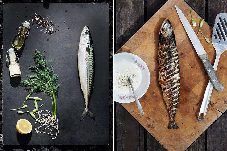 Hvordan grille en hel fisk?