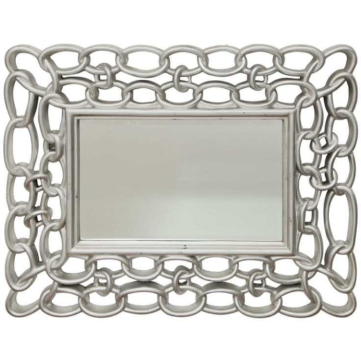 1970's Chain-linked Mirror | From a unique collection of antique and modern wall mirrors at http://www.1stdibs.com/furniture/mirrors/wall-mirrors/