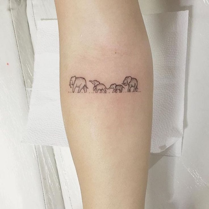 75 Big And Small Elephant Tattoo Ideas - Brighter Craft in 2020 | Elephant tattoo small, Symbol for family tattoo, Elephant family tattoo