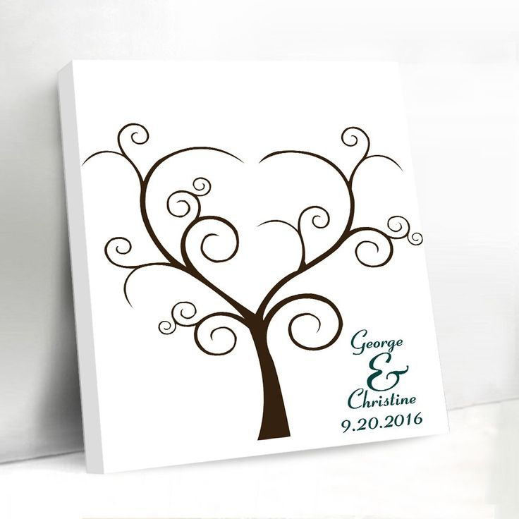 Wedding Guest Book Thumbprint Tree 185 250 Guests 22 X