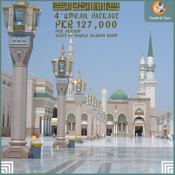 Contact us at:  03222522158 03000300158 03244444158  Package Price Includes:  Saudi Visa 04 Nights Accommodation in Makkah 05 Nights Accommodation in Madina One Way Transfers (Jed-Mak) Daily Breakfast in Madina No Breakfast in Makkah All Taxes
