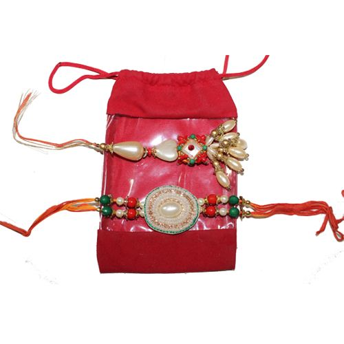 This is an attractive bhaiya and bhabhi rakhi. Buy now more amazing collection @ HandiCrunch.