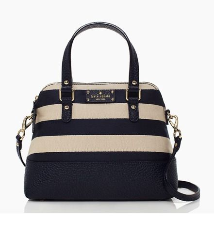 Kate Spade Grove Court Stripe Maise, love it when I was stalking the Kate Spade's Sale section (❛ ◡ ❛)❤