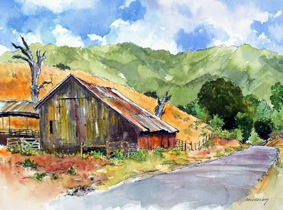 pen and watercolor wash buildings | or temperatures sometimes i work in pen and ink with watercolor washes ...