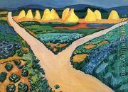 Vegetable Fields  by August Macke