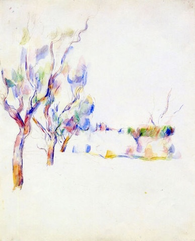 Almond Trees in Provence  by Paul Cezanne