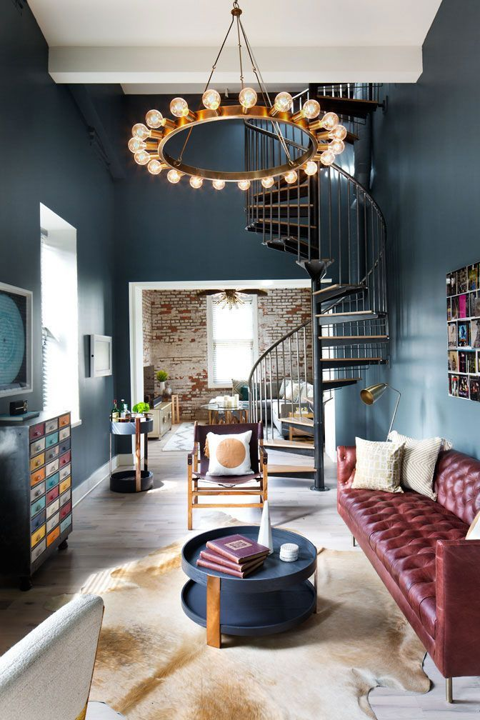 Stunning industrial loft in a former factory in Beacon, New York #InteriorDesignLoft