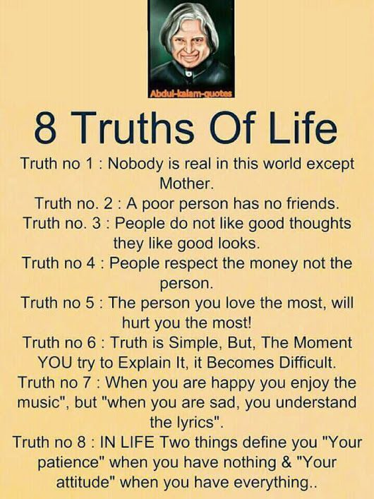 Image Result For Abdul Kalam Quotes 8 Truth Of Life Amazing