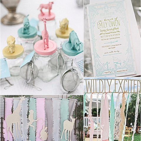 A Menagerie of Pastels: Incorporate a rainbow of the softest pastel shades into your event for a baby-friendly, vintage-y vibe.   Source: Wiley Valentine