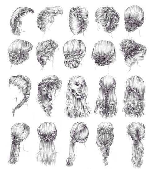 Hairstyles #hairstyles #sketch #fashion | Sketching Up Fashion | Pinterest | Wedding 4 In And ...