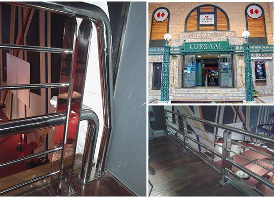 Proyecto de barandillas de acero inoxidable en el Casino Kursaal de San Sebastián-Donostia. #barandillas #acero #casino #kursaal #partevieja #poker #donostia2016 #callemayor