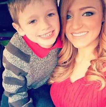 """Pregnant Teen Mom star Maci Bookout and her 6-year-old son Bentley survived a severe car crash on Sunday. The MTV personality, shared four photos of her overturned Jeep on the highway on Instagram. She captioned the scary images, """"Thanking God that..."""