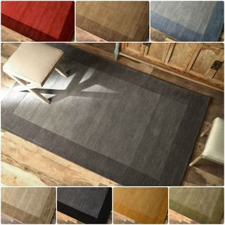 nuLOOM Handmade Zen Solid Border Wool Rug (5' x 8') | Overstock.com Shopping - Great Deals on Nuloom 5x8 - 6x9 Rugs