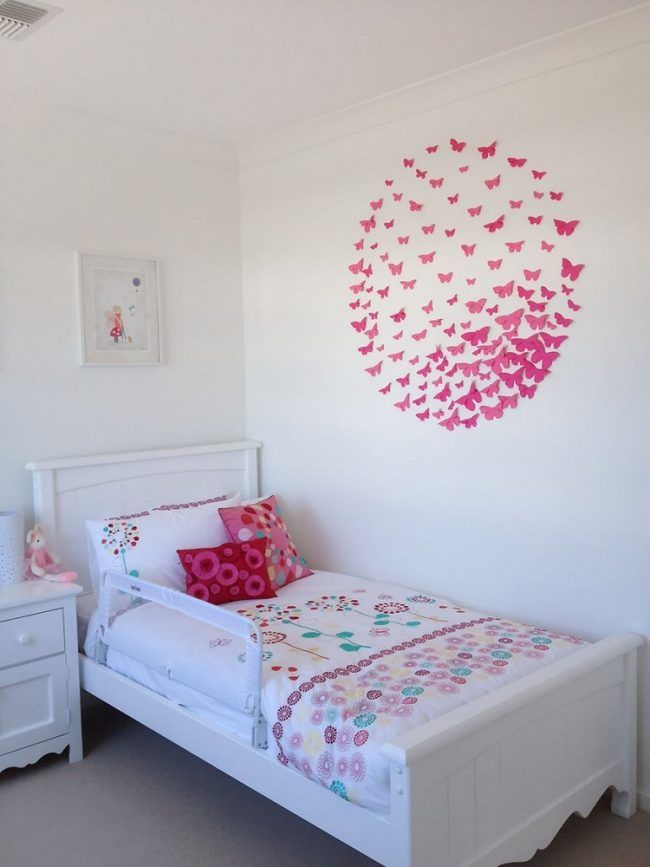 Perfect Teenager Zimmer ideen madchen papier schmetterlinge rosa wanddeko