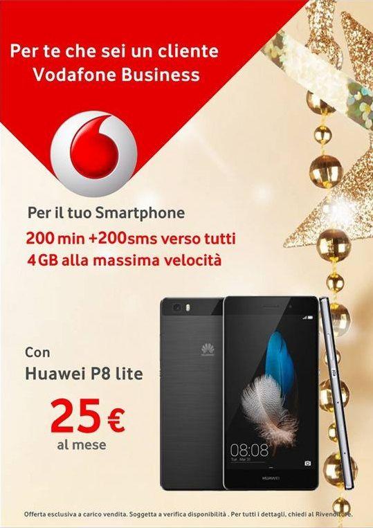 4GB di navigazione su rete 4G + Huawei P8 LITE incluso