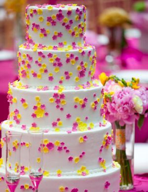 Things Festive Weddings & Events: Pink and Yellow Garden Wedding Theme - Whimsically Sweet