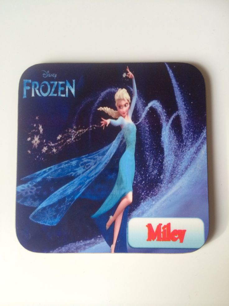 Frozen personalised coaster, just a bit of artwork to do, kids love these with a place mat too
