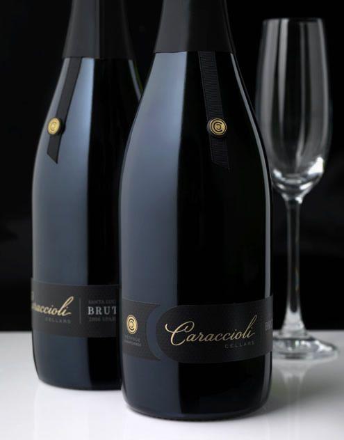 Caraccioli Cellars Wine Caraccioli Cellars Sparkling Wine Label & Package Design Sparkling Santa Lucia Highlands Award Winning
