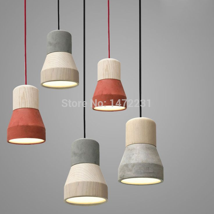 The Nordic Minimalist Retro Pendant Light Wood Cement Vintage Lamp Restaurant Dining Room Coffee Hall Pendente de teto Laparas-inPendant Lights from Lights & Lighting on Aliexpress.com | Alibaba Group