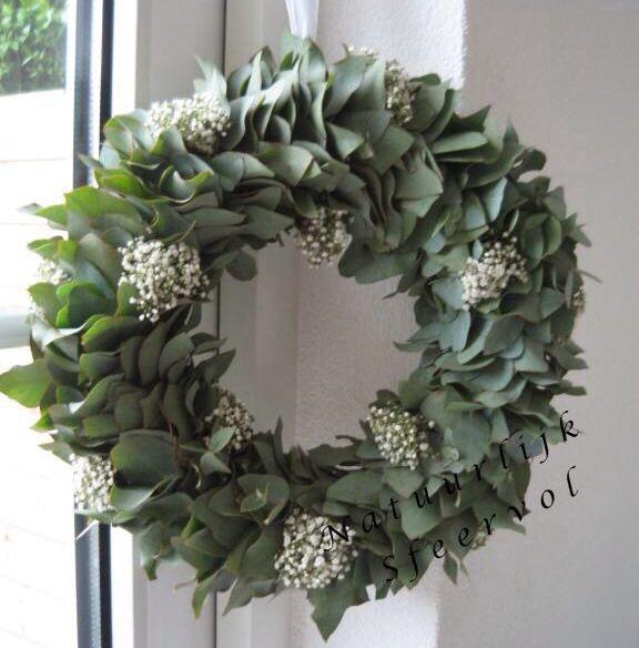 eucalyptus en gipskruid; prachtig!!