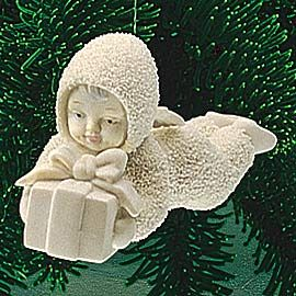 "Department 56: COLLECTING - ""Overnight Delivery"" Ornament - Snowbabies™ Retirements"
