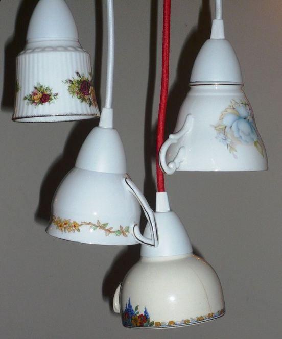 teacup light fitting