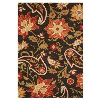"Mohawk Home Jacobean Floral Wool Rug - Brown (6'6""x10 ..."