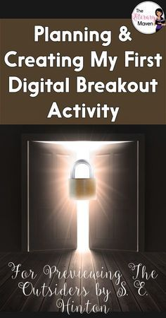 The timer is ticking. Will your students be able to escape? Breakouts are a great way to make content interactive and encourage collaboration among students. Learn more about breakout activities, also known as Escape Room games, and how I planned and created my first digital breakout for previewing The Outsiders by S. E. Hinton.