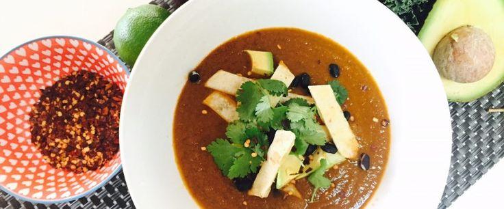 Vegan Tortilla Soup – recipe courtesy of Nicole Dynan, APD